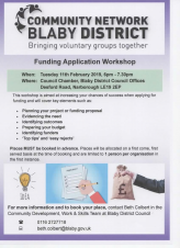 Funding Application Workshop - Voluntary Groups