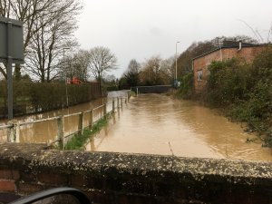 Flooding in Sharnford